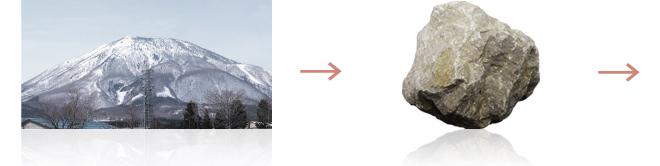 ハワイから黒姫へ 純度99.7%の石灰石